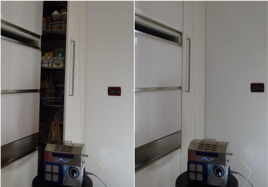 sanificazione dispensa cucina con ozono