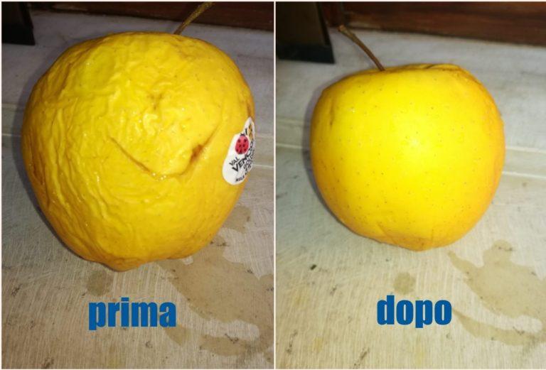 Mela prima e dopo ozono